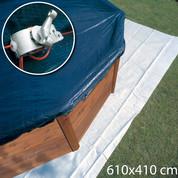 Bâche hiver 610 x 410 cm - Piscine hors sol Gré ovale 500 x 300 cm