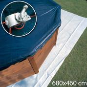Bâche hiver 680 x 460 cm - Piscine hors sol Ovale 610 x 375 cm - En huit 500 x 340 cm