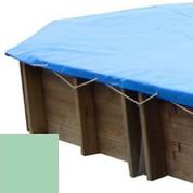 Bache hiver amande pour piscine bois original 436 x 336