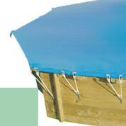 Bâche hiver amande pour piscine bois original 500 x 500 - 779810