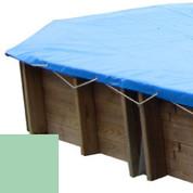 Bâche hiver amande pour piscine bois original 656 x 456