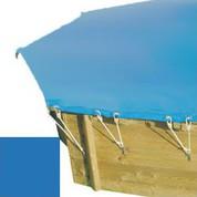 Bache hiver bleu pour piscine bois original 434 x 434