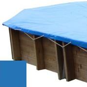 Bache hiver bleu pour piscine bois original 436 x 336