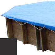 Bâche hiver carbone pour piscine bois original 656 x 456