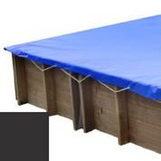 Bache hiver carbone pour piscine bois original 300 x 300