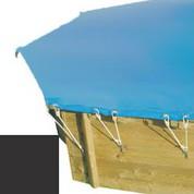 Bache hiver carbone pour piscine bois original 430 x 430