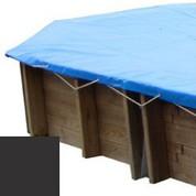Bache hiver carbone pour piscine bois original 436 x 336