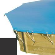 Bâche hiver carbone pour piscine bois original 500 x 500 - 779810