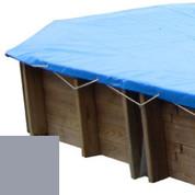 Bâche hiver gris pour piscine bois original 656 x 456