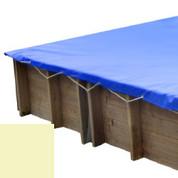 Bâche hiver sable pour piscine bois original 305 x 305