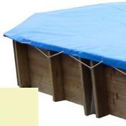 Bache hiver sable pour piscine bois original 436 x 336