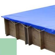 Bache hiver amande pour piscine bois original 300 x 300