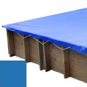 Bache hiver bleu pour piscine bois original 300 x 300