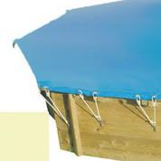 Bache hiver sable pour piscine bois original 430 x 430