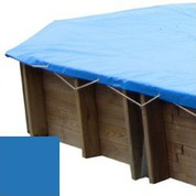 Bache hiver bleu pour piscine bois original 502 x 303