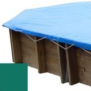 Bache hiver vert pour piscine bois original 436 x 336