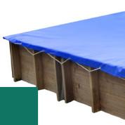 Bâche hiver verte pour piscine bois original 305 x 305