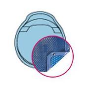 Bâche Quatro Bleu Solaire Modèle Nacre Alliance piscines