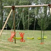Achat vente de portique et balan oire d 39 enfants jardin - Balancoire bois belgique ...