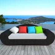 Canapé de jardin Véga couleur en résine noire