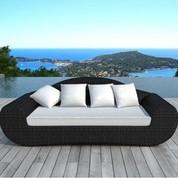 Canapé de jardin Véga écru en résine noire