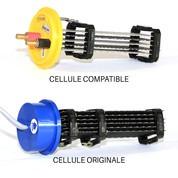 Cellule compatible 68260 pour Paramount® Culot bleu - 5 grilles 60 x 190 mm