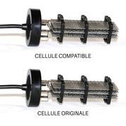 Cellule compatible 68263 pour Paramount® Culot Noir - 5 grilles 60 x 190 mm
