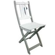 Chaise en acacia bicolore Burano muscade/blanc