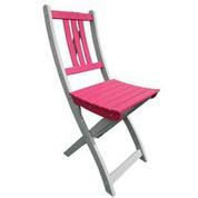 Chaise en acacia bicolore Burano muscade/fushia