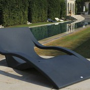 Chaise longue Muse anthracite