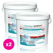 Chlorilong Ultimate7 galet 300g Bayrol 9.6 kg - 2 seaux x 4.8 kg