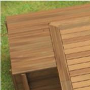 Coffre filtration en bois pour piscine Urbaine