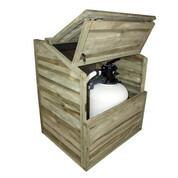 Coffre de filtration pour piscine bois avec fond - H 118
