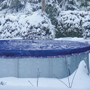 Couverture hivernage piscine hors-sol 7.10 x 4.75 m pour bassin 6.10 x 3.70 m