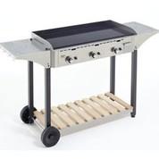 Desserte CHPS inox/bois pour plancha 900 Roller Grill