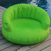 Fauteuil gonflable Vert avec accoudoirs