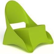 4 Fauteuils d'extérieur Ondule vert anis