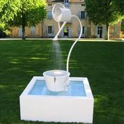 Fontaine de jardin Léopold XL blanche