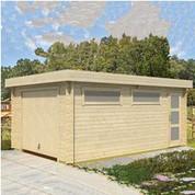Garage en bois d'épicéa Canberra 44 B