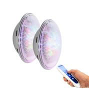 Kit n°2 - 2 X Lampes LED LumiPlus PAR56 RGB 1100 lm + télécommande