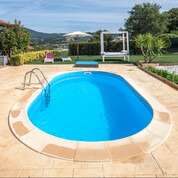 Kit piscine enterrée Madagascar acier ovale 600 x 320 x H150 cm