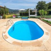 Kit piscine enterrée Madagascar acier ovale 800 x 400 x H150 cm