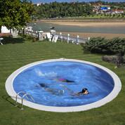 Kit piscine enterrée Madagascar acier ronde 420 x H150 cm