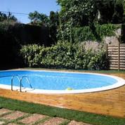 Kit piscine enterrée Madagascar acier ovale 500 x 300 x 150 cm