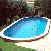 Kit piscine enterrée acier Sumatra ovale 500 x 300 x H120 cm