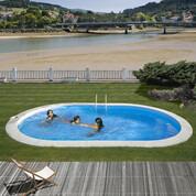 Kit piscine enterrée Sumatra acier ovale 800 x 400 x H120 cm