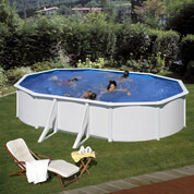 Kit piscine hors-sol acier Fidji ovale 4 renforts 610x375x120 cm