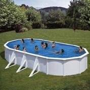 Kit piscine hors-sol acier Fidji ovale 6 renforts 730x375x120 cm