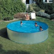 Kit piscine hors-sol acier galvanisé ronde Tenerife Ø450 x H90 cm