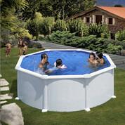 Kit piscine hors-sol Atlantis acier blanc ronde 350 x H132 cm